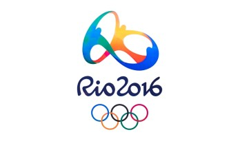 Bangkok, Thailand - May 7, 2016: Official logo of the 2016 Summer Olympic Games in Rio de Janeiro, Brazil, from August 5 to August 21, 2016, printed on paper.